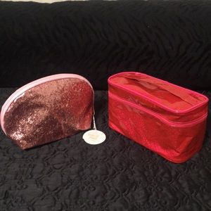 """Handbags - Two sparkly pink cosmetic bags. Both brand new. 8"""""""